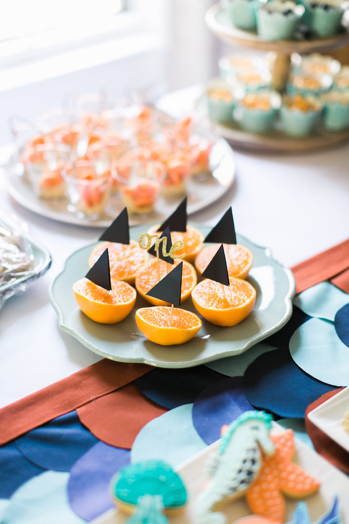 Mini sail-boat muffins from a Modern Under the Sea Birthday Party on Kara's Party Ideas | KarasPartyIdeas.com (41)