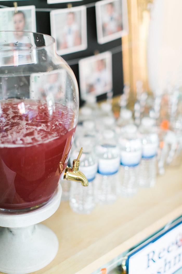 Drink table from a Modern Under the Sea Birthday Party on Kara's Party Ideas | KarasPartyIdeas.com (36)