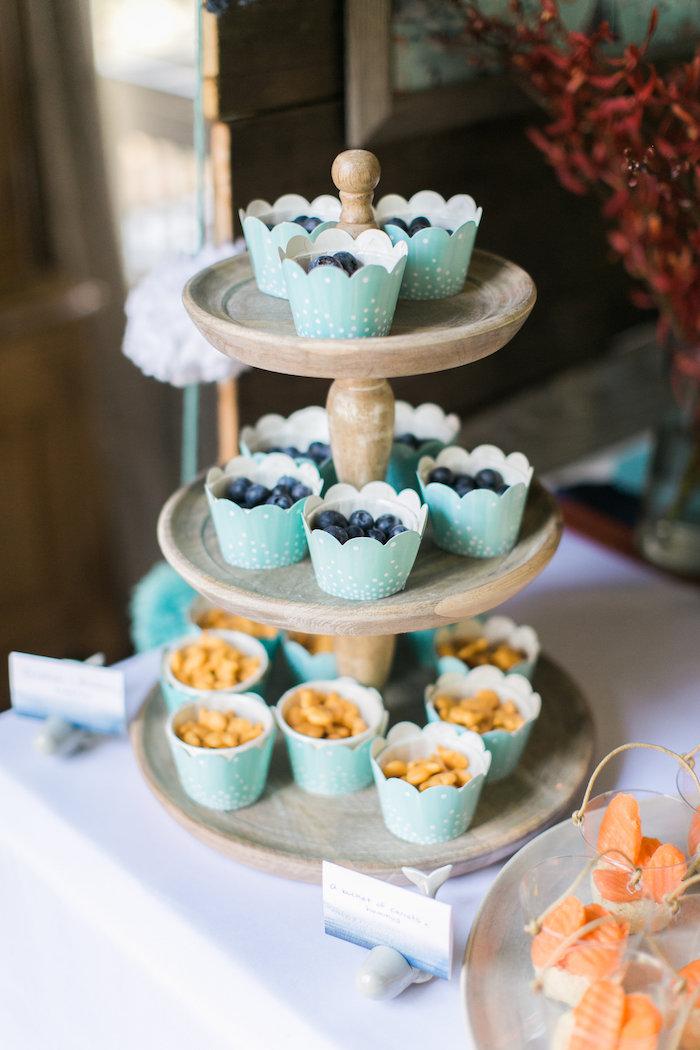 Cupcakes from a Modern Under the Sea Birthday Party on Kara's Party Ideas | KarasPartyIdeas.com (34)