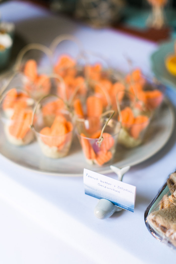 Veggie cups + label from a Modern Under the Sea Birthday Party on Kara's Party Ideas | KarasPartyIdeas.com (33)