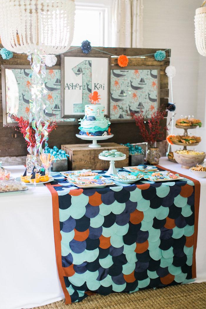 Modern Under the Sea Birthday Party on Kara's Party Ideas | KarasPartyIdeas.com (31)
