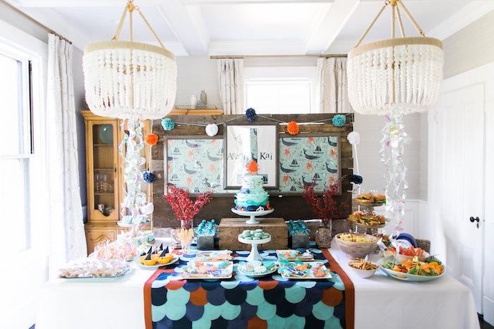 Modern Under the Sea Birthday Party on Kara's Party Ideas | KarasPartyIdeas.com (52)