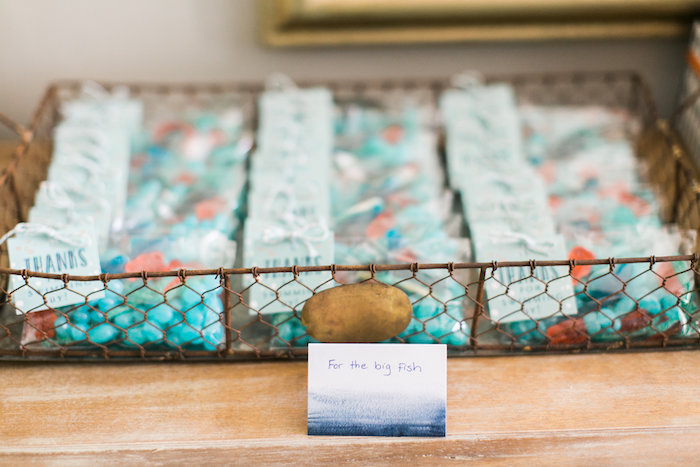 Under the Sea candy-filled favor baggies from a Modern Under the Sea Birthday Party on Kara's Party Ideas | KarasPartyIdeas.com (17)
