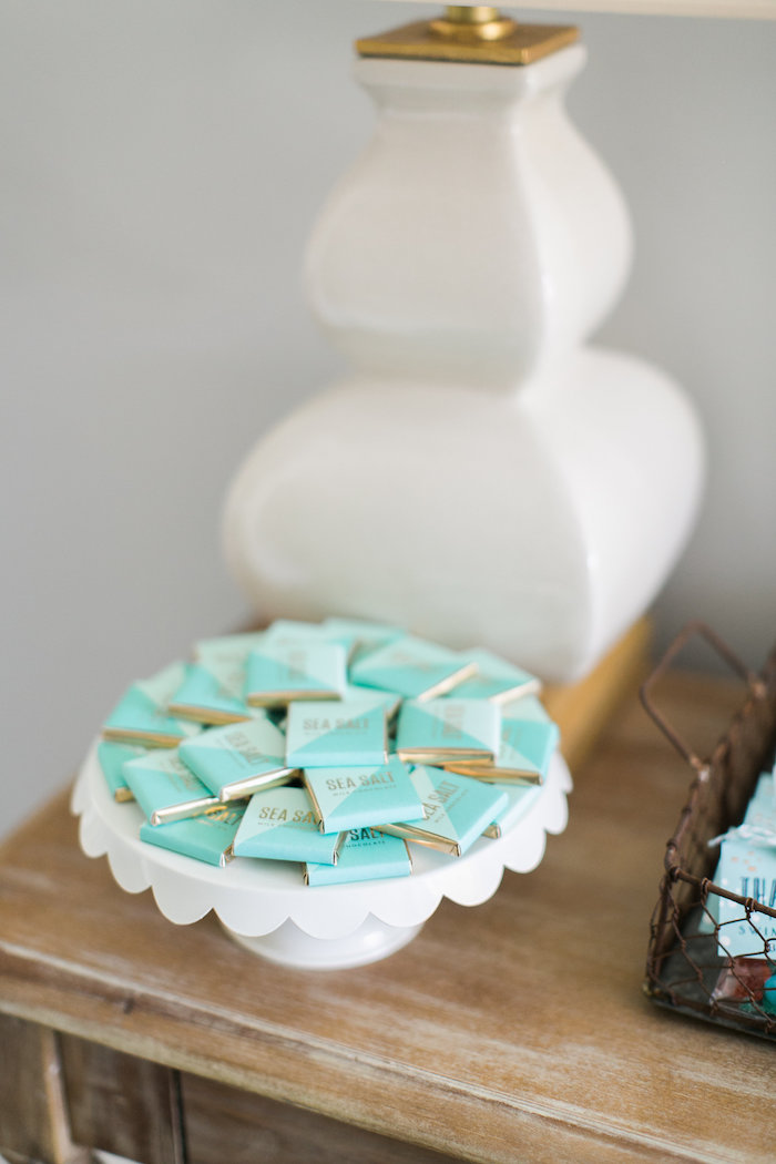 Sea Salt chocolate squares from a Modern Under the Sea Birthday Party on Kara's Party Ideas | KarasPartyIdeas.com (15)