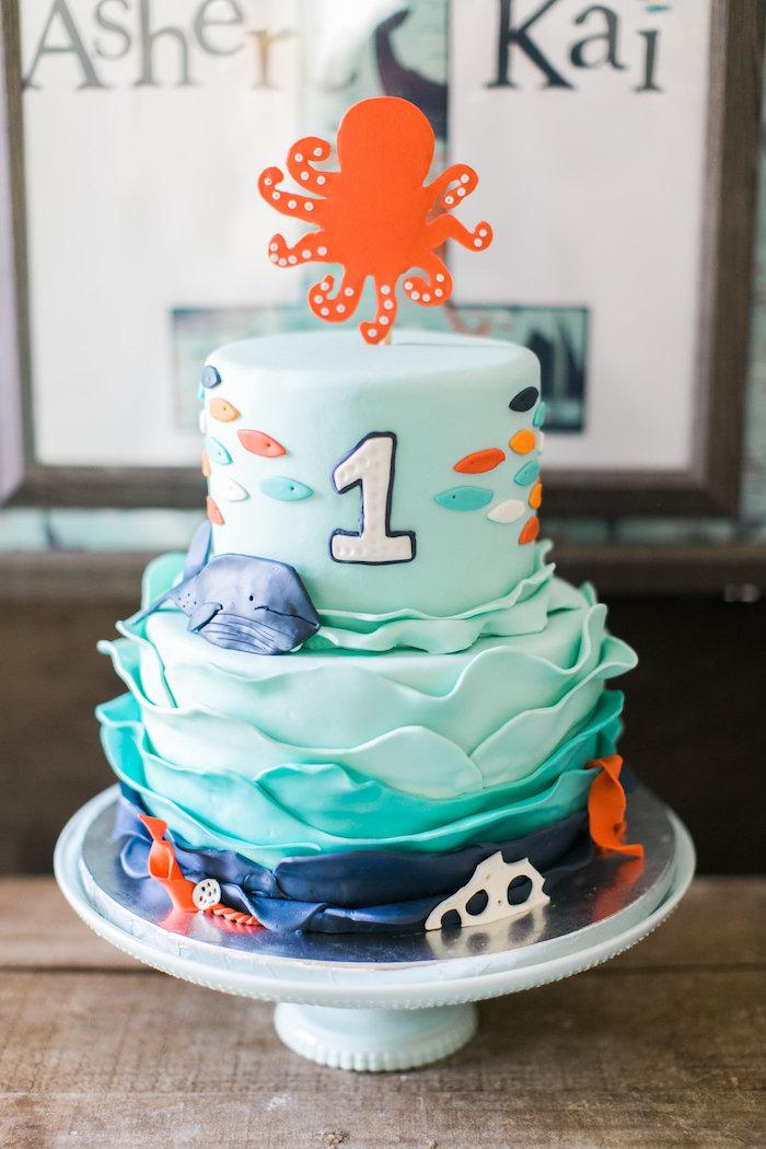 Karas Party Ideas Modern Under The Sea Birthday Party Karas