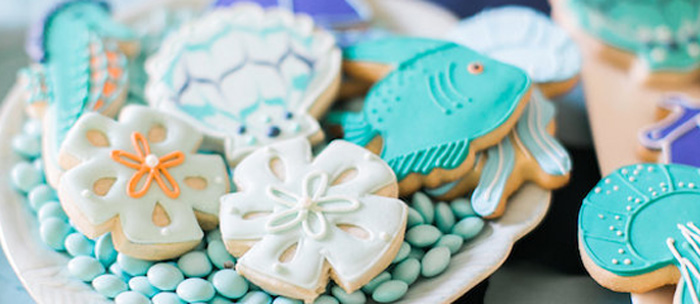 Modern Under the Sea Birthday Party on Kara's Party Ideas | KarasPartyIdeas.com (3)