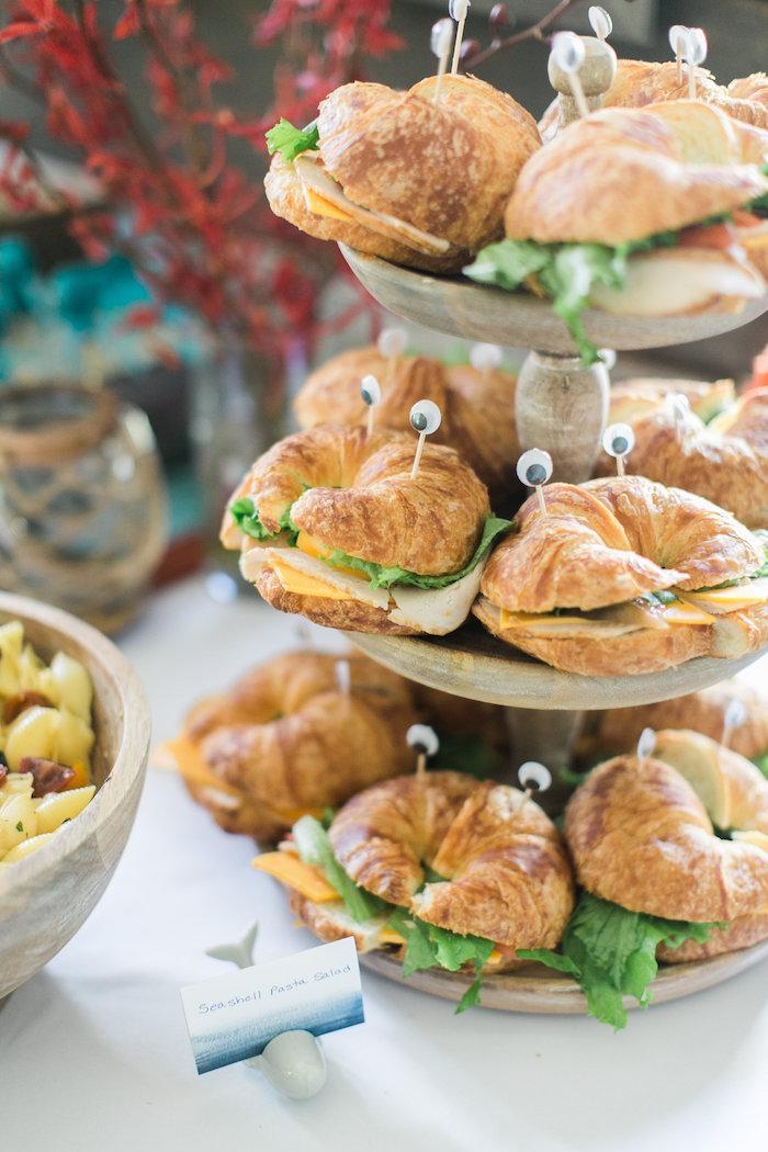 Crustacea sandwiches from a Modern Under the Sea Birthday Party on Kara's Party Ideas | KarasPartyIdeas.com (45)