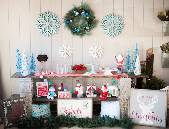 Christmas Craft Party Ideas Part - 31: Holiday Dessert Table From A Mom U0026 Me Christmas Craft Party On Karau0027s Party  Ideas |