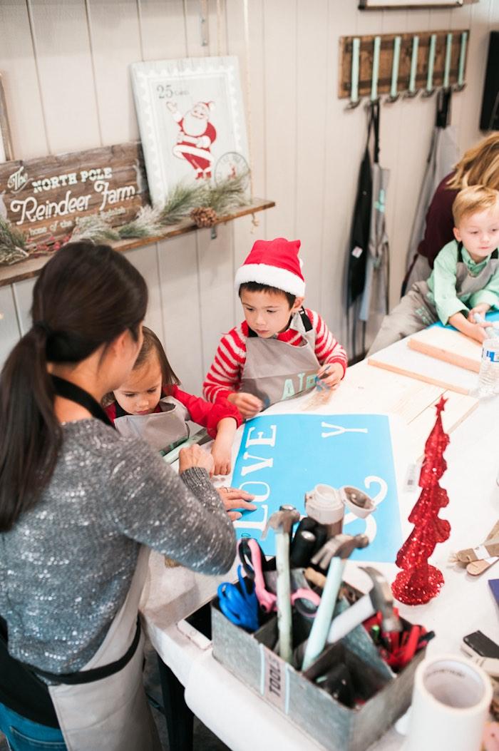 Mom & Me Christmas Craft Party on Kara's Party Ideas   KarasPartyIdeas.com (31)