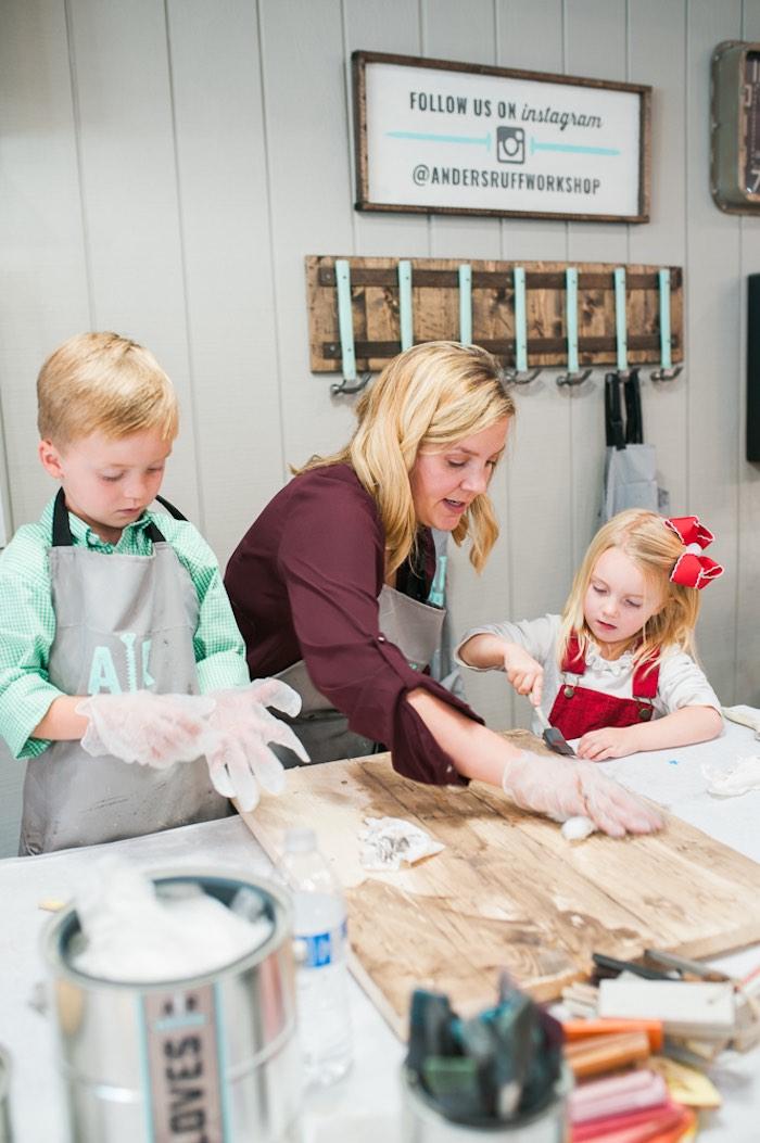 Mom & Me Christmas Craft Party on Kara's Party Ideas   KarasPartyIdeas.com (22)