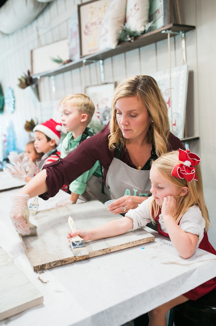 Mom & Me Christmas Craft Party on Kara's Party Ideas   KarasPartyIdeas.com (20)