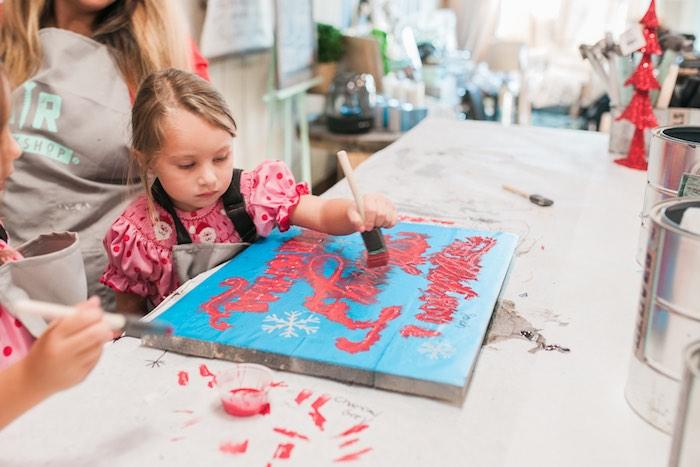 Mom & Me Christmas Craft Party on Kara's Party Ideas   KarasPartyIdeas.com (9)