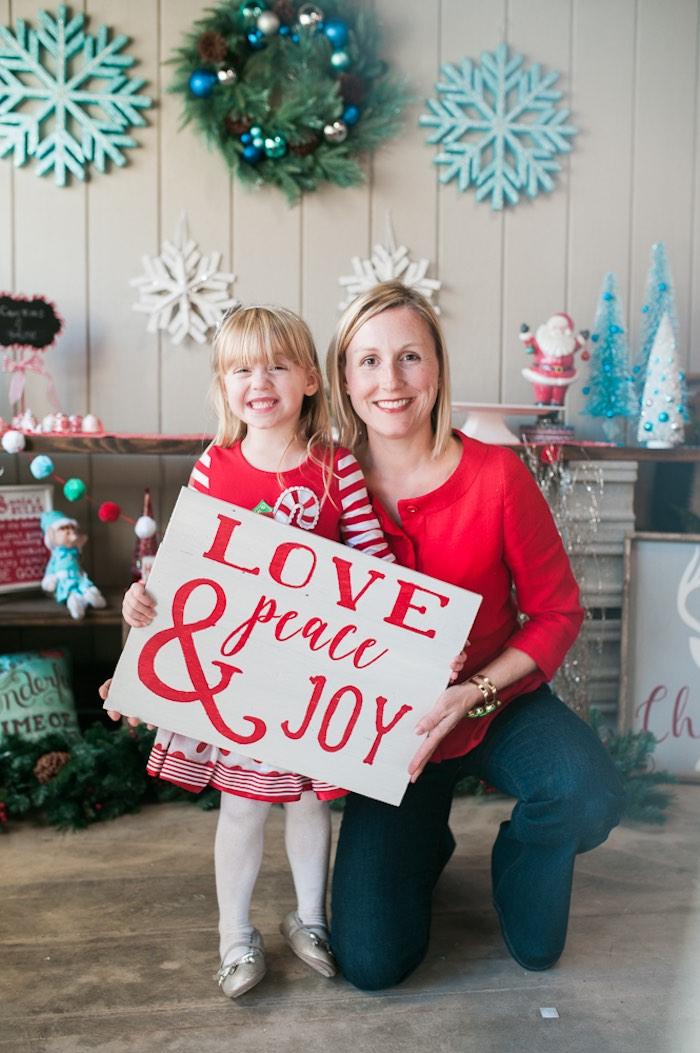 Mom & Me Christmas Craft Party on Kara's Party Ideas   KarasPartyIdeas.com (5)