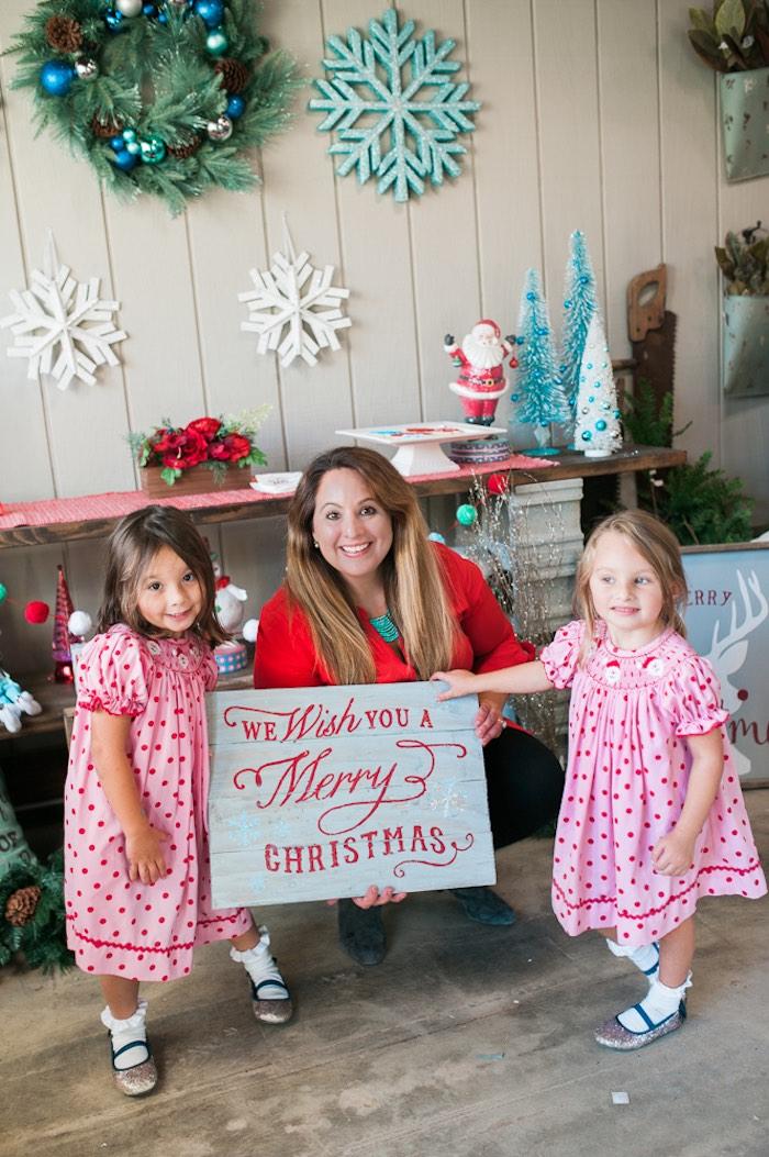 Mom & Me Christmas Craft Party on Kara's Party Ideas   KarasPartyIdeas.com (4)