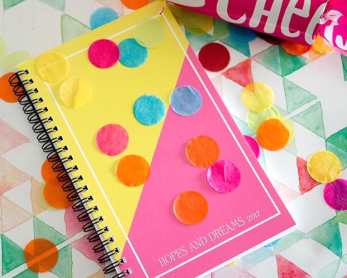 Hopes & Dreams for 2017 notebook favor from a Noon Year's Eve Party for Littles on Kara's Party Ideas | KarasPartyIdeas (5)