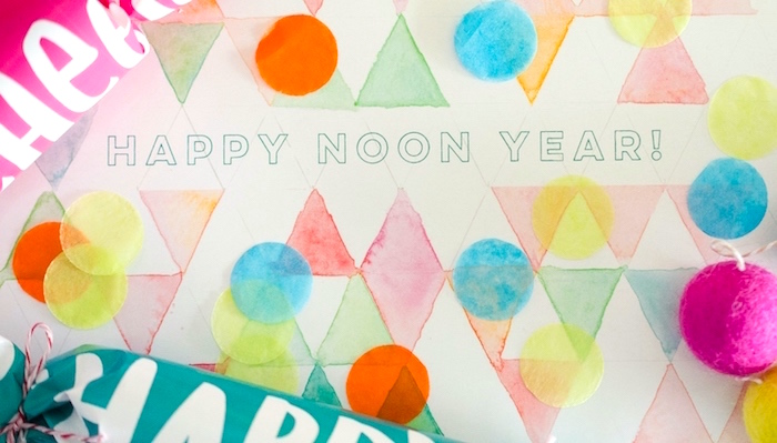 Party signage & confetti from a Noon Year's Eve Party for Littles on Kara's Party Ideas | KarasPartyIdeas (12)