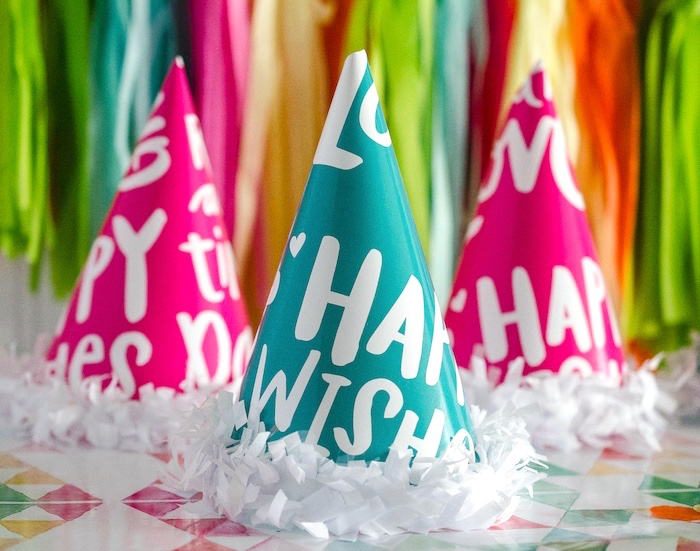 New Year Party Hats from a Noon Year's Eve Party for Littles on Kara's Party Ideas   KarasPartyIdeas (11)