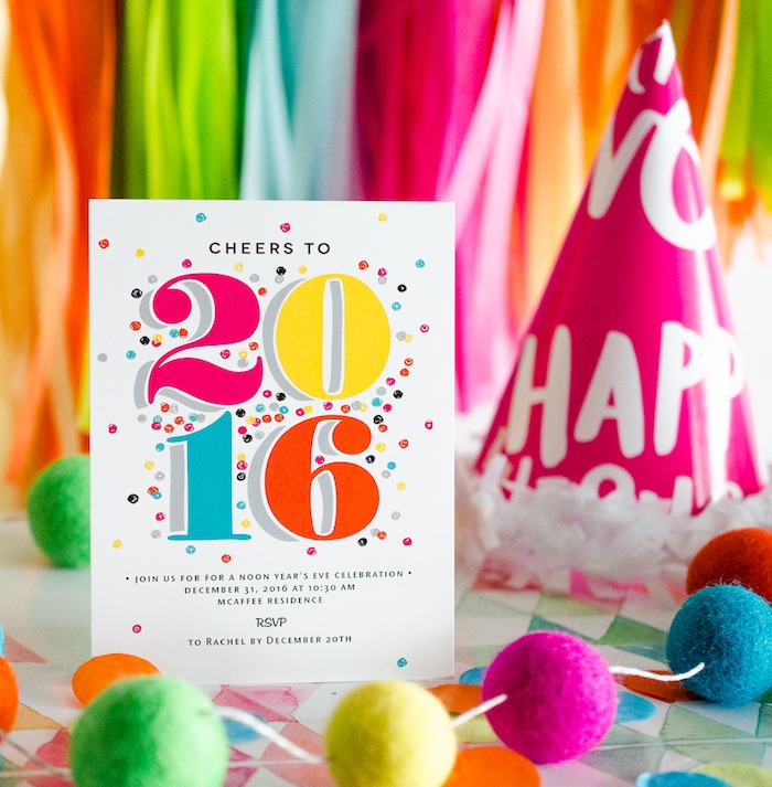 New Year's Party Invitation from a Noon Year's Eve Party for Littles on Kara's Party Ideas | KarasPartyIdeas (10)