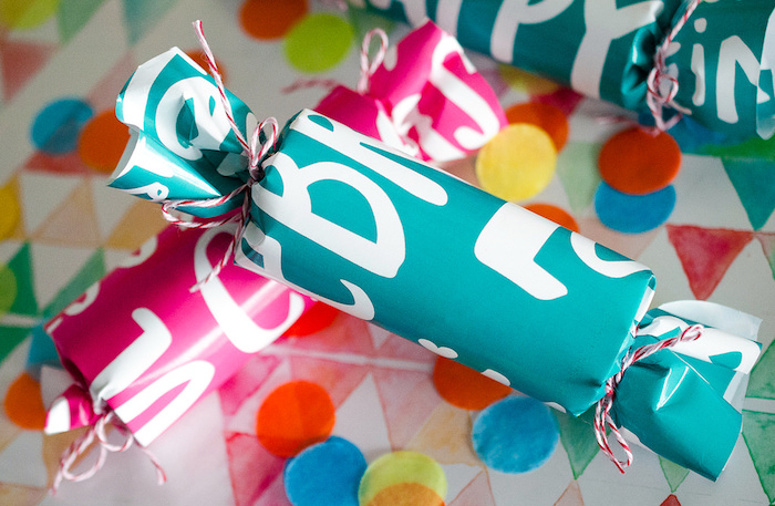 Wrapped confetti tubes from a Noon Year's Eve Party for Littles on Kara's Party Ideas | KarasPartyIdeas (9)