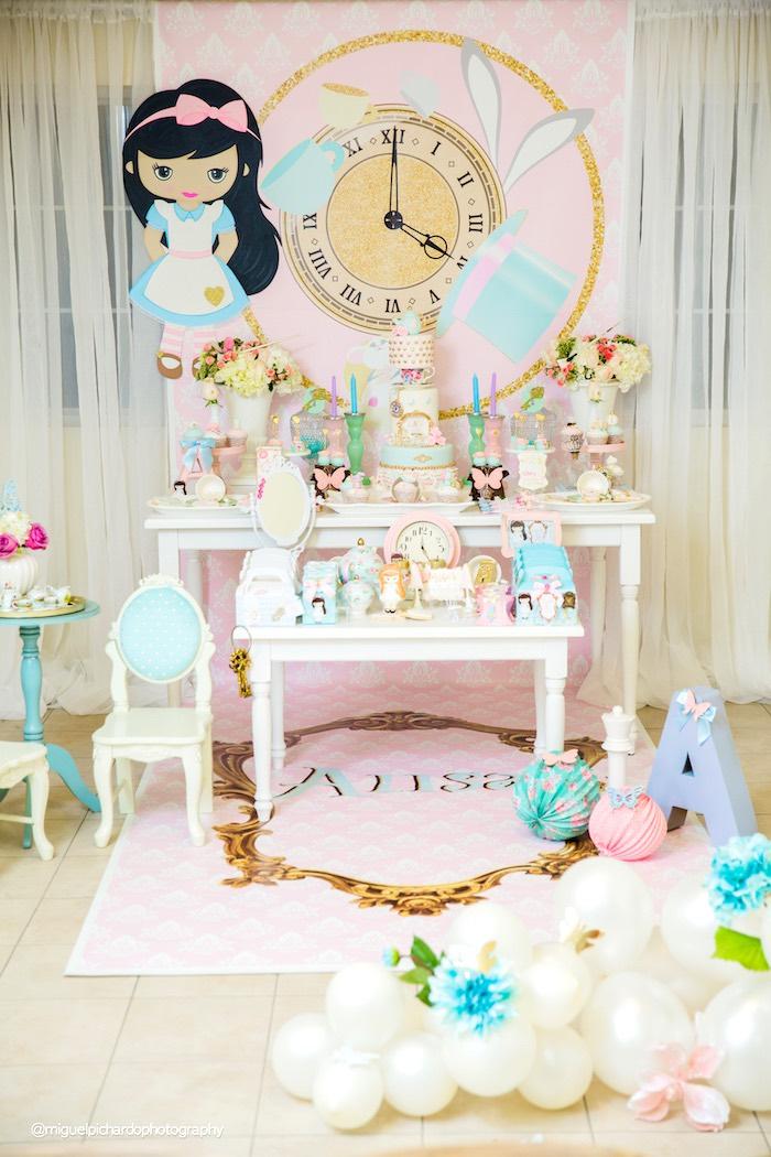 Pastel Glam Alice in Wonderland Birthday Party