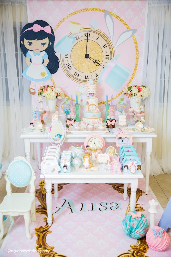 Pastel Glam Alice in Wonderland Birthday Party on Kara's Party Ideas | KarasPartyIdeas.com (47)