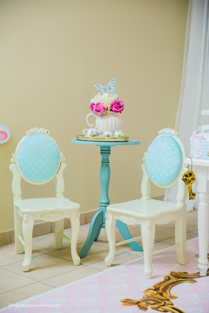 Chairs from a Pastel Glam Alice in Wonderland Birthday Party on Kara's Party Ideas | KarasPartyIdeas.com (46)