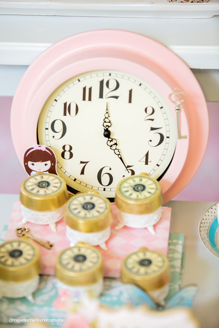 Clock Oreos from a Pastel Glam Alice in Wonderland Birthday Party on Kara's Party Ideas | KarasPartyIdeas.com (41)