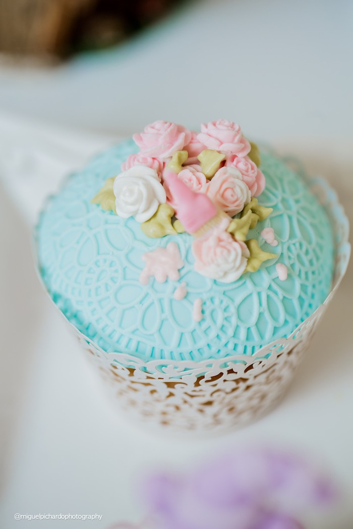 Cupcake from a Pastel Glam Alice in Wonderland Birthday Party on Kara's Party Ideas | KarasPartyIdeas.com (10)
