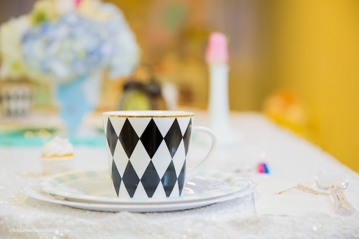 Alice in Wonderland cup from a Pastel Glam Alice in Wonderland Birthday Party on Kara's Party Ideas | KarasPartyIdeas.com (55)