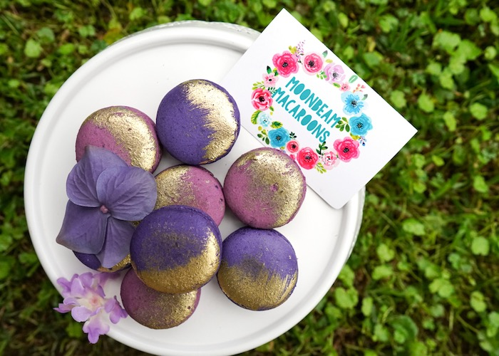 Purple macarons from a Pastel Unicorn Birthday Party on Kara's Party Ideas | KarasPartyIdeas.com (13)