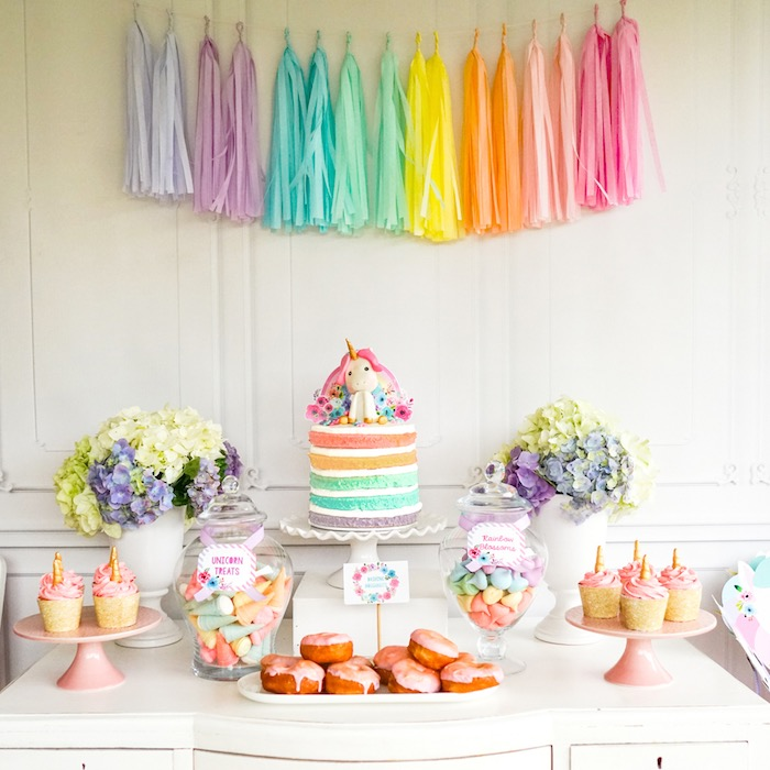 Pastel Unicorn Birthday Party On Karas Ideas