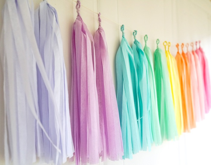 Pastel tassel garland from a Pastel Unicorn Birthday Party on Kara's Party Ideas | KarasPartyIdeas.com (4)