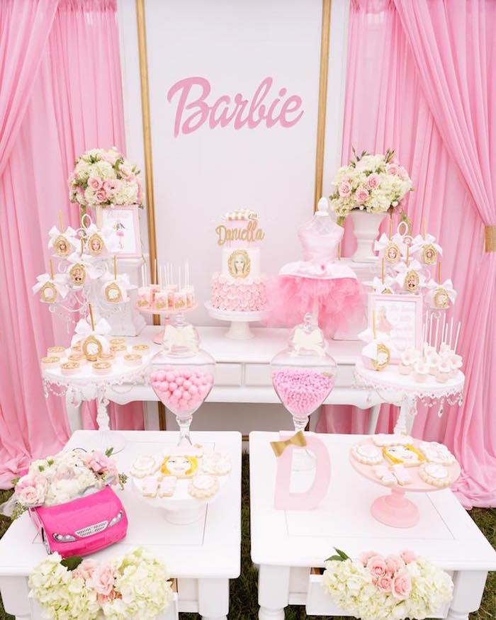Princess Birthday Party Cake Table