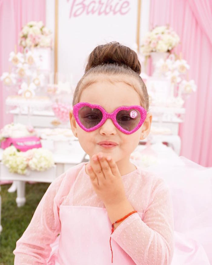 Barbie glasses from a Pink Glam Barbie Birthday Party on Kara's Party Ideas | KarasPartyIdeas.com (12)
