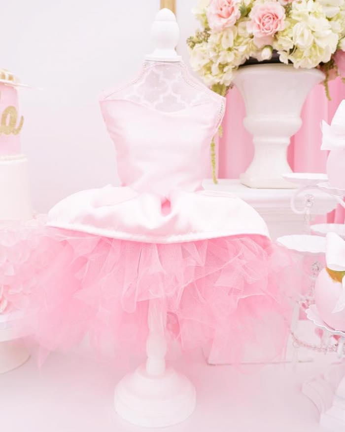 Tutu dress form from a Pink Glam Barbie Birthday Party on Kara's Party Ideas | KarasPartyIdeas.com (11)