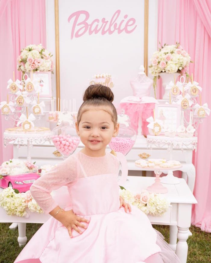 Pink Glam Barbie Birthday Party on Kara's Party Ideas | KarasPartyIdeas.com (10)
