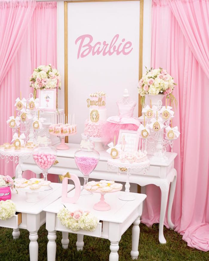 Karas Party Ideas Pink Glam Barbie Birthday Party Karas Party