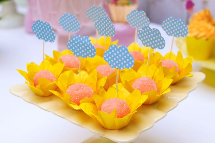 Cloud truffles from a Pretty Pastel Rainbow Party on Kara's Party Ideas | KarasPartyIdeas.com (22)