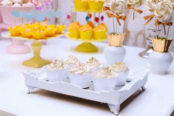 Cupcakes from a Pretty Pastel Rainbow Party on Kara's Party Ideas | KarasPartyIdeas.com (19)
