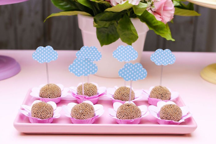 Cloud truffles from a Pretty Pastel Rainbow Party on Kara's Party Ideas | KarasPartyIdeas.com (10)