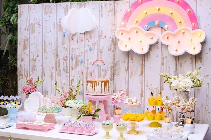 Kara S Party Ideas Pretty Pastel Rainbow Party Kara S