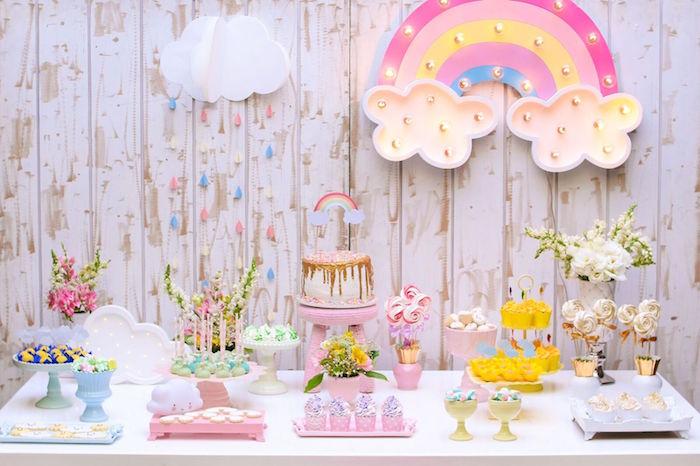 Pretty Pastel Rainbow Party on Kara's Party Ideas | KarasPartyIdeas.com (5)