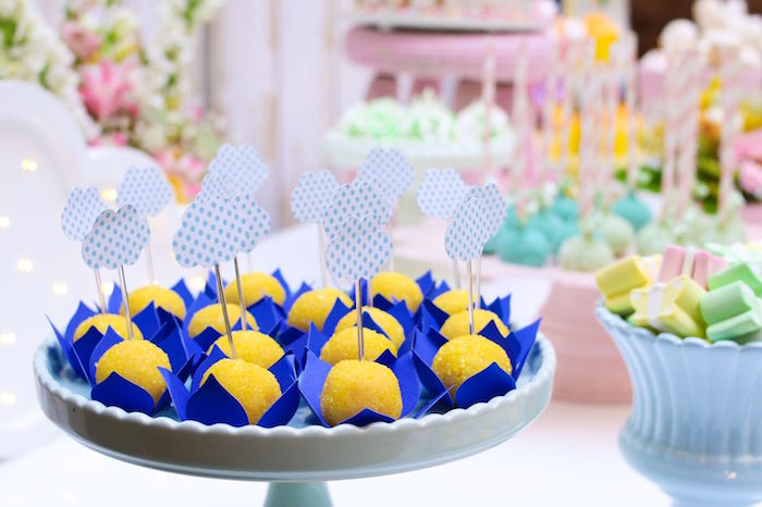 Cloud truffles from a Pretty Pastel Rainbow Party on Kara's Party Ideas | KarasPartyIdeas.com (32)
