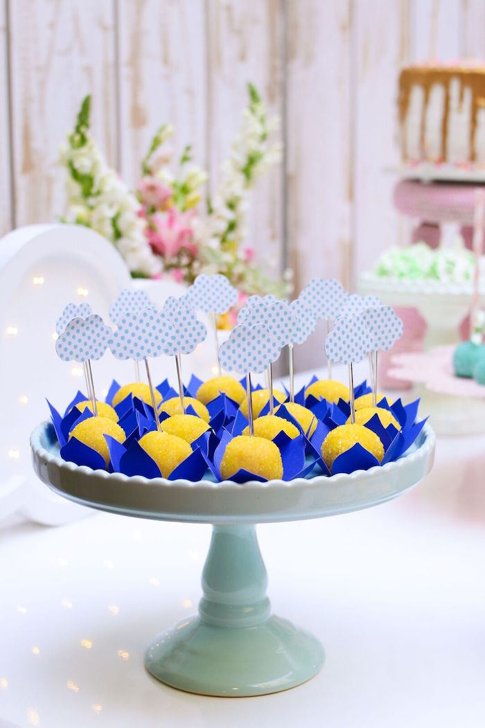 Cloud truffles from a Pretty Pastel Rainbow Party on Kara's Party Ideas | KarasPartyIdeas.com (31)