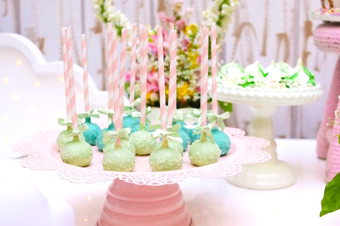 Cake pops from a Pretty Pastel Rainbow Party on Kara's Party Ideas | KarasPartyIdeas.com (30)