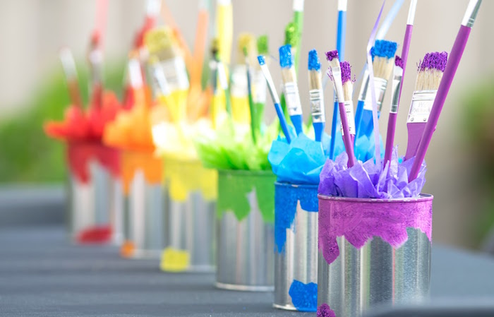 Karas Party Ideas Rainbow Paint