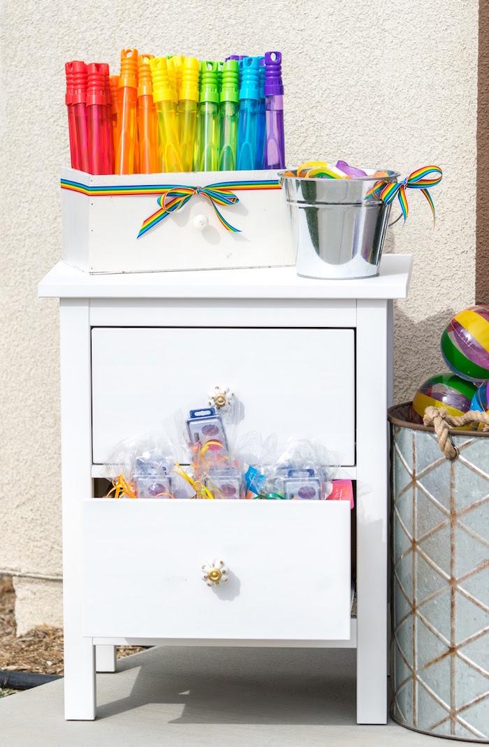 Rainbow favors from a Rainbow Paint Party on Kara's Party Ideas KarasPartyIdeas.com (35)