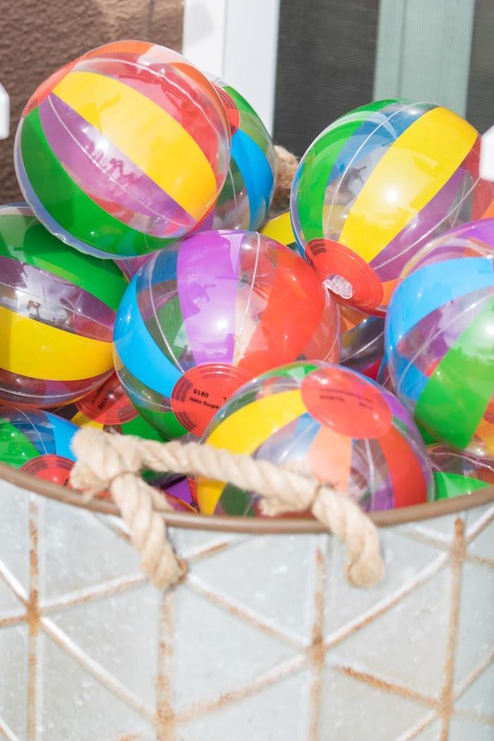 Rainbow balls from a Rainbow Paint Party on Kara's Party Ideas KarasPartyIdeas.com (34)