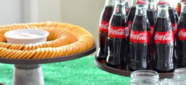 Ritz Crackers Bar for Coca Cola via Kara's Party Ideas | KarasPartyIdeas.com