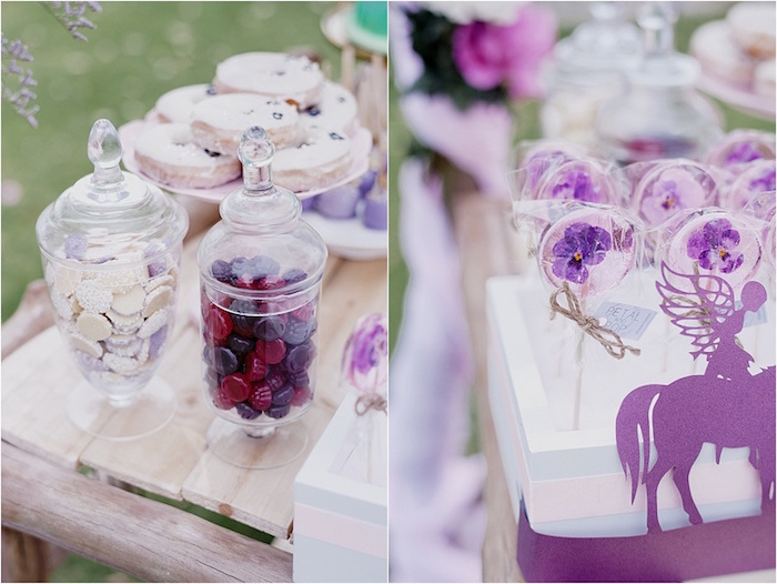 Candy + lollipops from a Rustic Fairies & Unicorns Birthday Party on Kara's Party Ideas | KarasPartyIdeas.com (20)